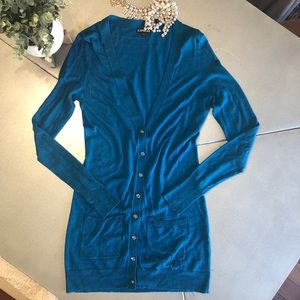 🌟EXPRESS cardigan button down sweater TEAL -XS